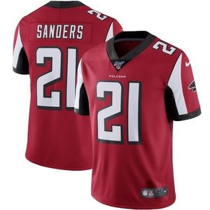 Men's Atlanta Falcons 21 Deion Sanders 100 Jersey